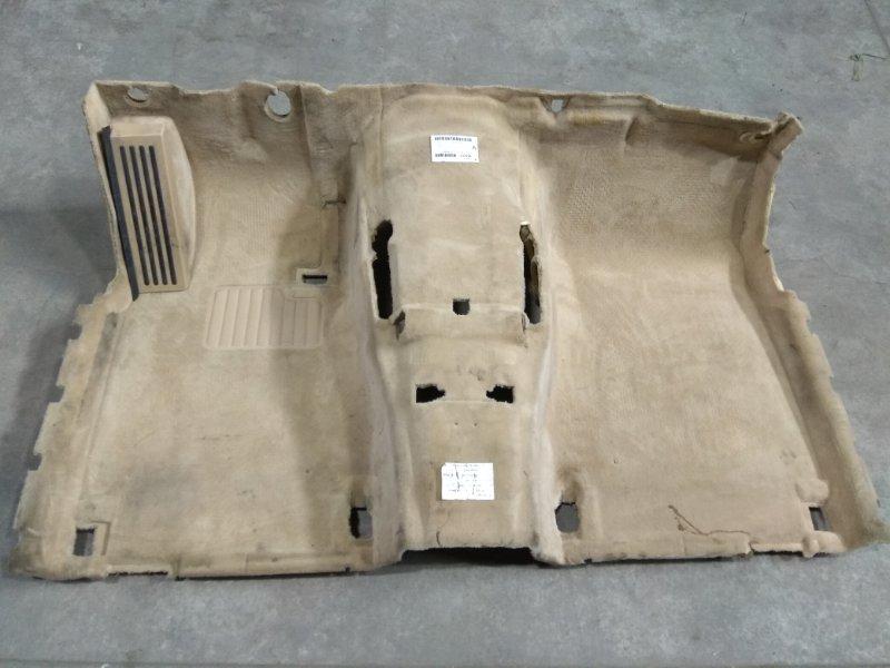 Обшивка пола Bmw 735I E65 N62 B36A 2001 передняя 701382336 ковровое покрытие пола в салон - передняя