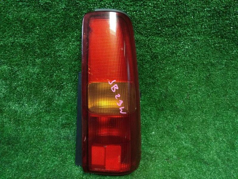 Фонарь задний Suzuki Jimny JB23W K6A задний правый 220-32081 R красно-оранжевый/трещины