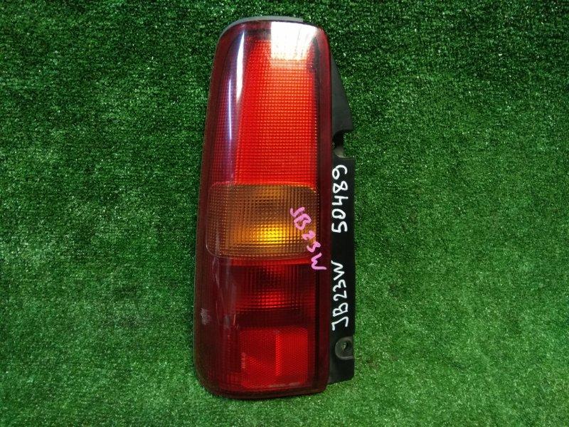 Фонарь задний Suzuki Jimny JB23W K6A задний левый 220-32081 L красно-оранжевый/ трещины по верху