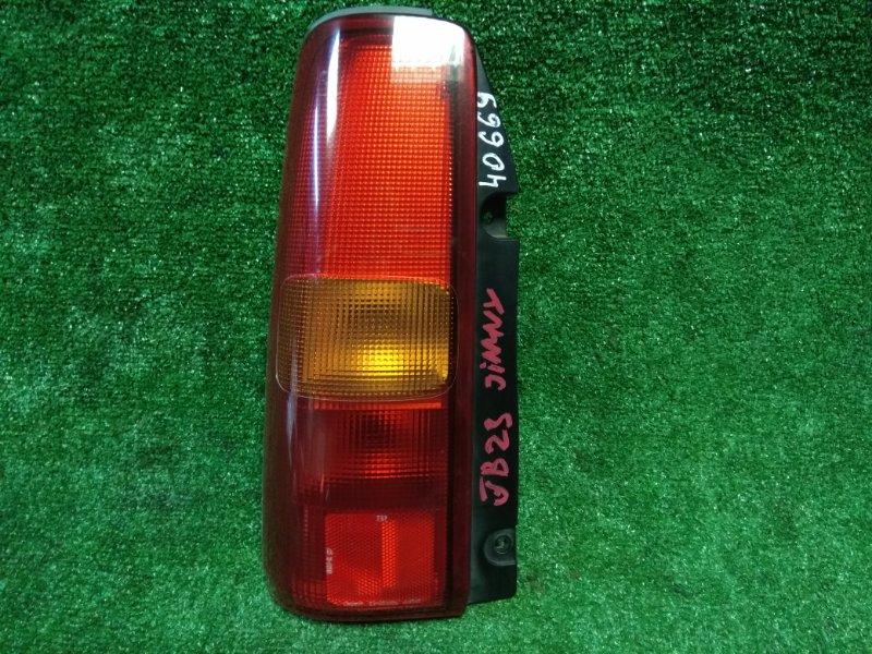 Фонарь задний Suzuki Jimny JB23W K6A задний левый 220-32081 L 220-32081 красно-оранжев.