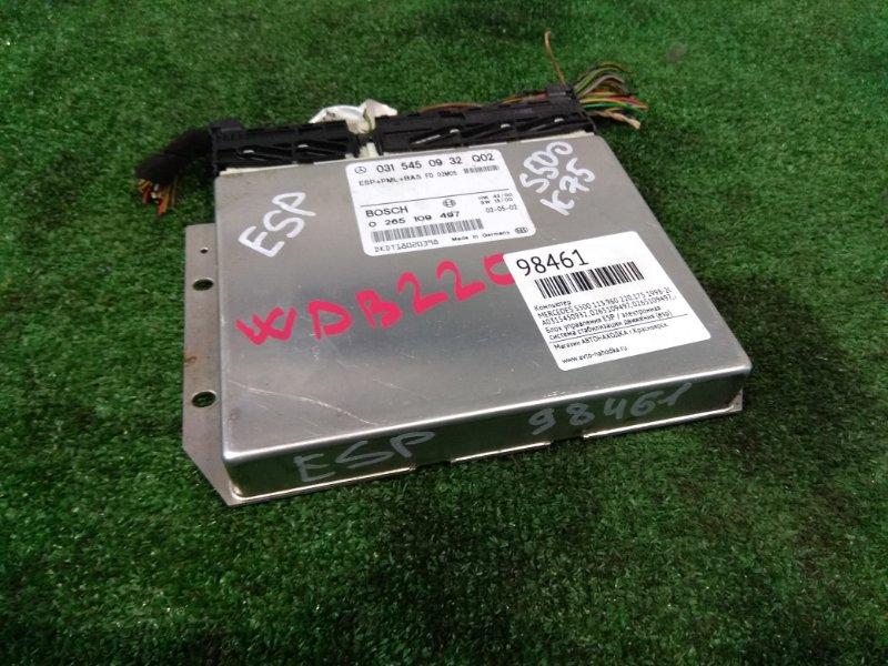 Компьютер Mercedes-Benz S500 220.175 113.960 1998 A0315450932, 0265109497 Блок управления ESP / электронная