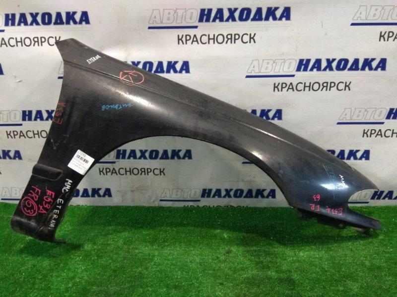 Крыло Mitsubishi Eterna E53A 6A11 переднее правое черное/К63, свое, на галант не подходит