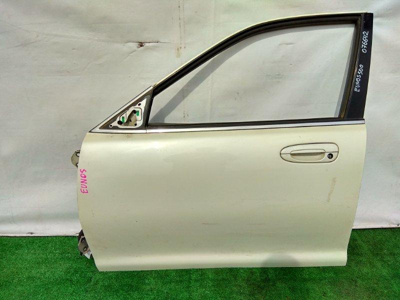 Дверь Mazda Eunos 500 CFEPE KF передняя левая (без стеклоподьемника)