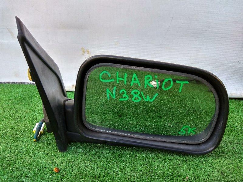 Зеркало Mitsubishi Chariot N38W 4G63 переднее правое Фишка на 5К