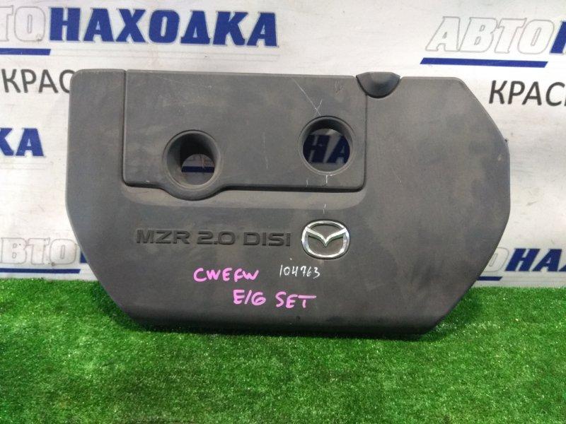 Крышка гбц Mazda Premacy CWEFW LF-VDS 2010 пластиковая декоративная крышка на ДВС (на крышку