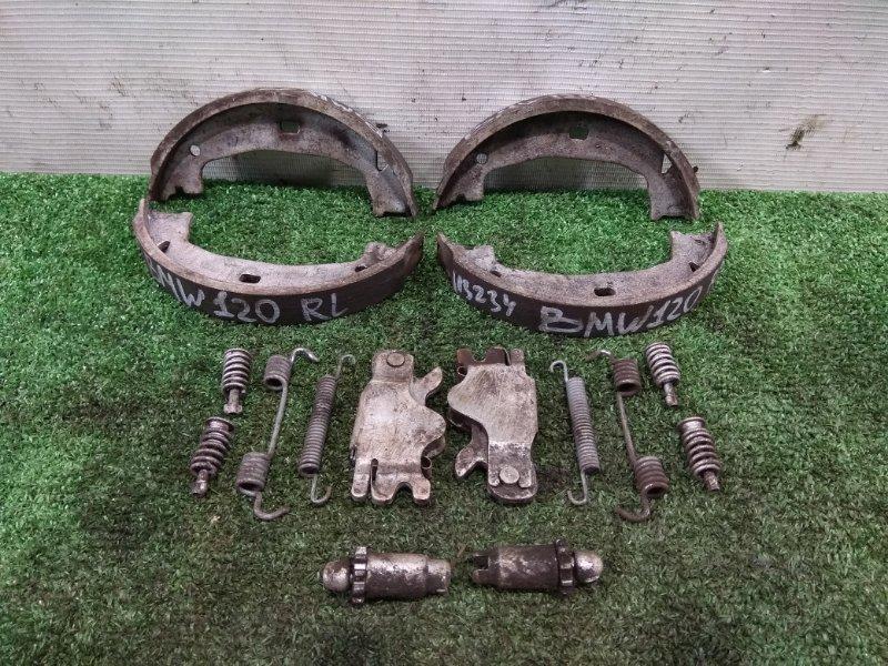 Колодки тормозные Bmw 120I E87 N46B20B 2004 задние 34212213310 R комплект на ручник в сборе с