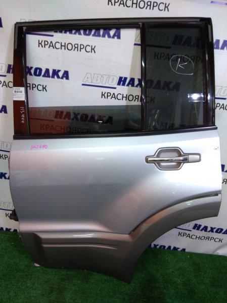 Дверь Mitsubishi Pajero V73W 6G72 2002 задняя левая RL в сборе, с накладкой 2 мод (02-06)