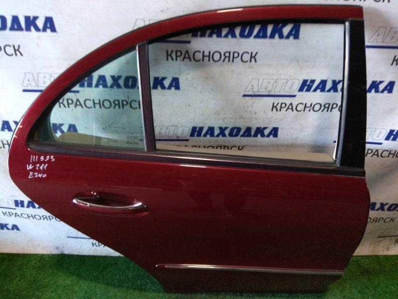 Дверь Mercedes-Benz E240 211.061 112.913 2002 задняя правая RR. в сборе, седан, красный титанит(код 567U)