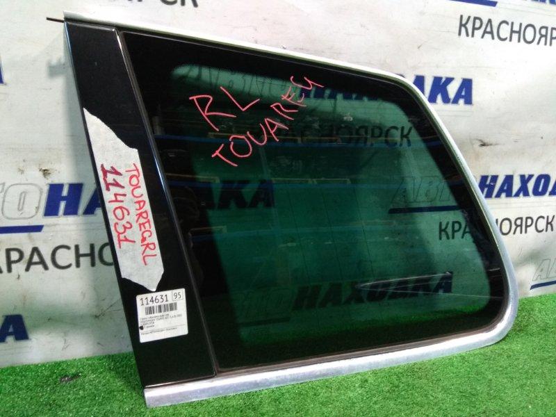 Стекло собачника Volkswagen Touareg 7LA AZZ 2002 заднее левое Левое багажника с хромом