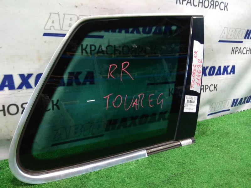 Стекло собачника Volkswagen Touareg 7LA AZZ 2002 заднее правое Правое багажника с хромом