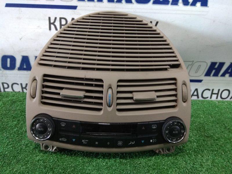 Климат-контроль Mercedes-Benz E240 211.061 112.913 2002 A2118300685 вместе с дефлекторами и облицовкой