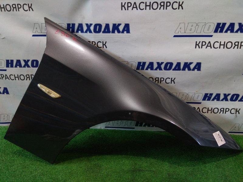Крыло Bmw 320I E90 N46B20 2004 переднее правое FR. графит металлик ( код A22 )
