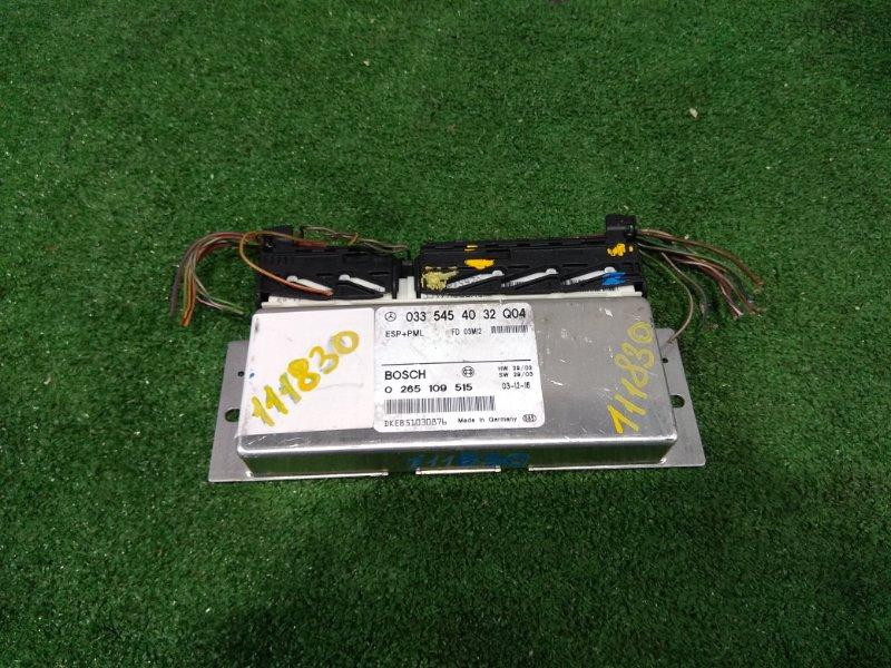 Компьютер Mercedes-Benz E240 211.061 112.913 2002 A0335454032, 0265109515 Блок управления ESP (ESP+PML)