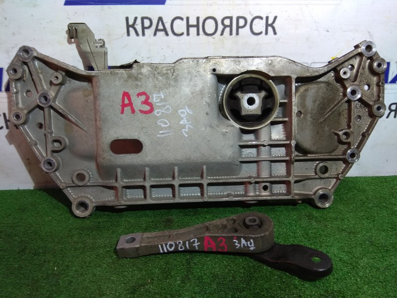 Подушка двигателя Audi A3 8P AXW 2003 задняя Rear вместе с плитой