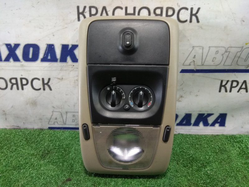 Плафон салона Ford Explorer U251 TRITON V8 2005 верхний с кнопкой люка и управлением задней печкой