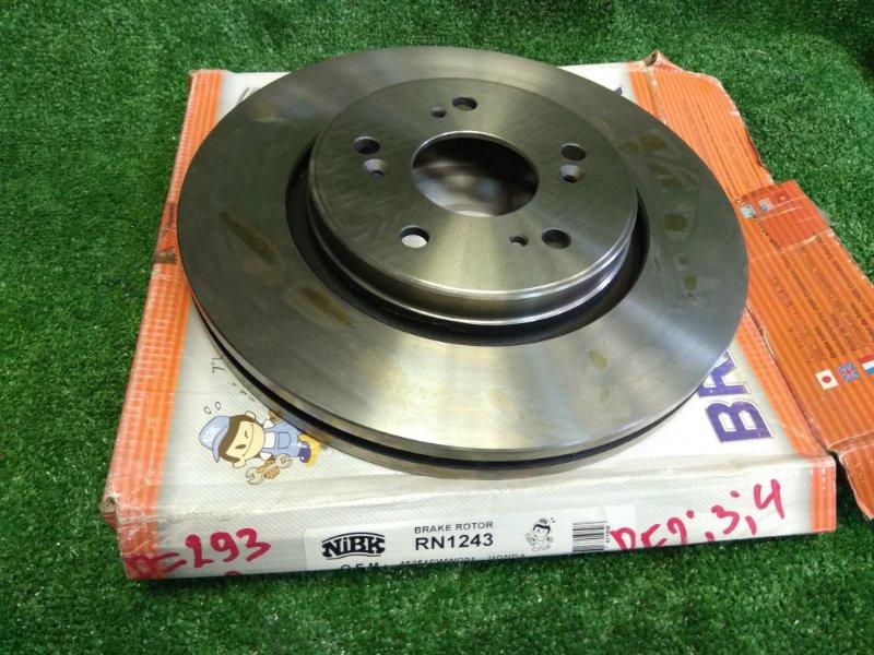 Диск тормозной Honda Cr-V RE2 K24A передний RN1243V передний /D=293, B=28/
