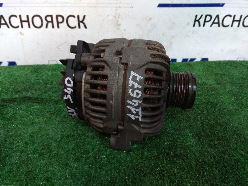 Генератор Volvo S40 B4204T3 2001 8676498 86 76 498, с муфтой, фишка 1 конт. 120A, С ДВС B4204T3 V-2.0 TURBO, пробег