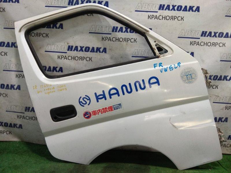 Дверь Nissan Caravan VWE25 ZD30DD 2001 передняя правая FR без стекла и С/подъемника, электро.