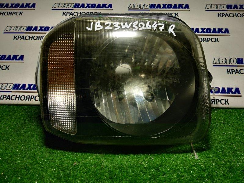 Фара Suzuki Jimny JB23W K6A передняя правая 100-32647 R черн фон*верх ухо