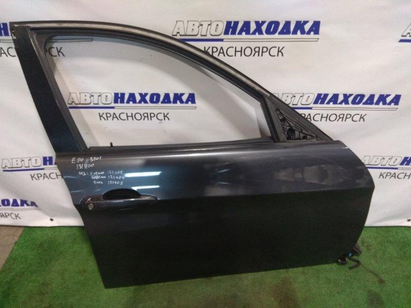 Дверь Bmw 320I E90 N46B20 2004 передняя правая FR без стекла, с/подъемника и блока, обшивка с