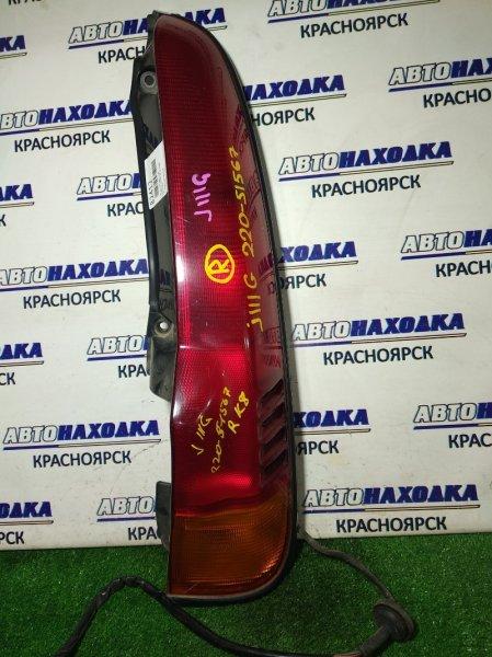Фонарь задний Daihatsu Terios J100G HC-EJ задний правый 220-51567 R 1мод красн-желтый