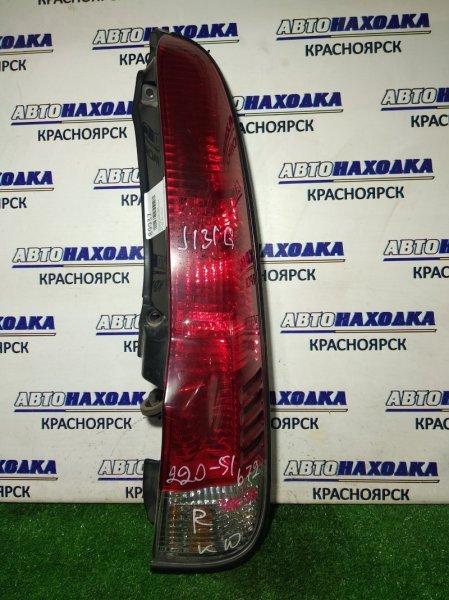 Фонарь задний Daihatsu Terios J100G HC-EJ задний правый 220-51672 R 2мод красн-белый