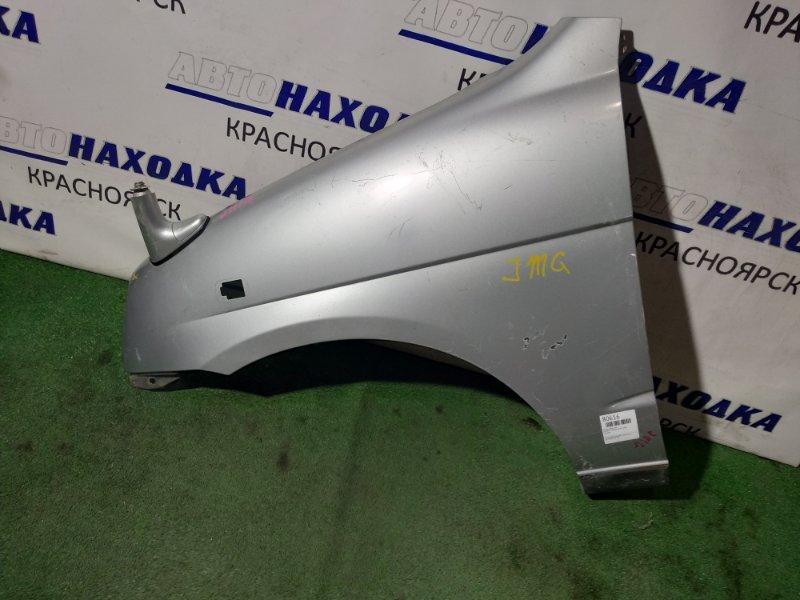Крыло Daihatsu Terios J100G HC-EJ переднее левое FL серое, зеркало без отражающего элемента!