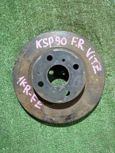 Диск тормозной Toyota Vitz KSP90 1KR-FE передний Ф255, T22, 4 ШПИЛЬКИ, VITZ KSP90,