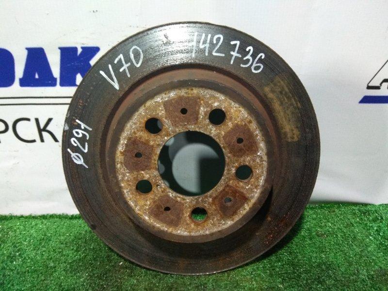 Диск тормозной Volvo V70 B5244S 2000 задний задний, невентилируемый, диаметр 288 мм.