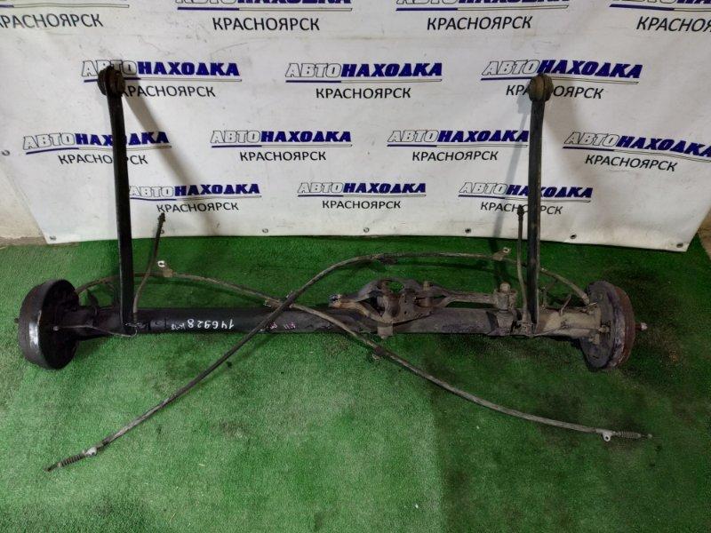 Балка поперечная Nissan Presea R11 GA15DE задняя в сборе со ступицами+тросы ручника