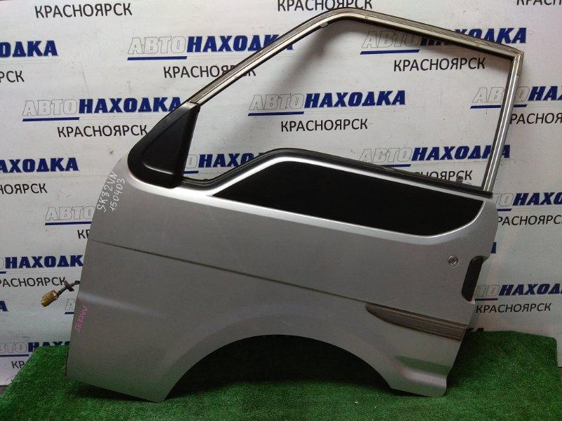 Дверь Nissan Vanette SK82VN 1999 передняя левая FL, (Mazda Bongo), в сборе, без петель, эл. подъемник,