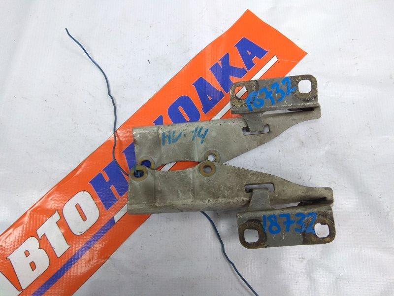 Кронштейн капота Nissan Bluebird EU14 QG18DE 1996 654012J010, 654002J010 SU14 белый пара/К65