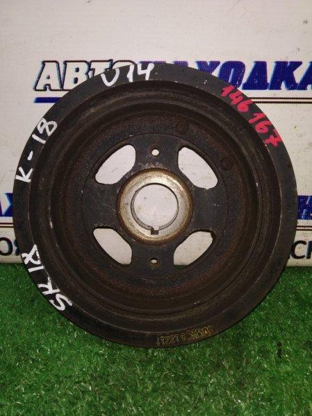 Шкив коленвала Nissan Bluebird EU14 SR18DE 1996 под 2 ремня 6РК и 4РК