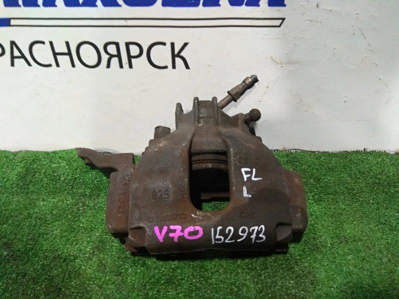 Суппорт Volvo V70 B5244S 2000 передний левый FL под диск D=285 мм.