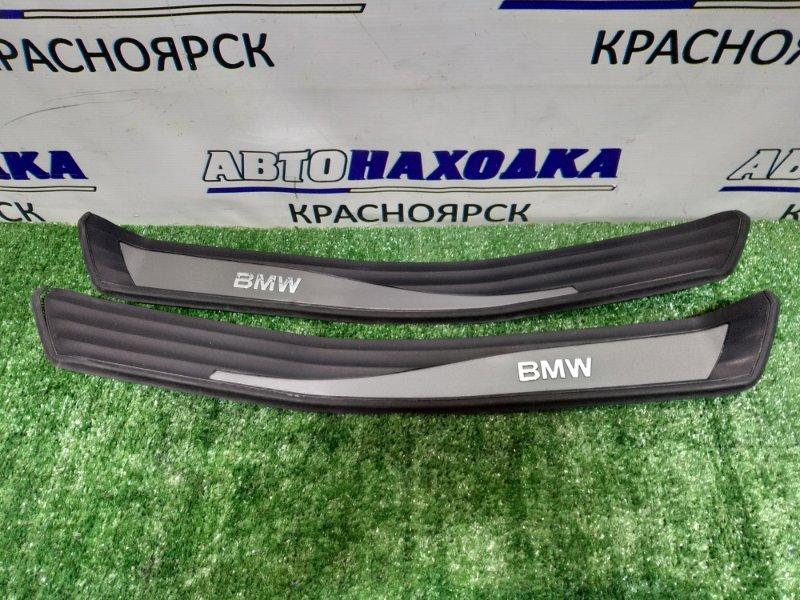 Накладка пластик в салон Bmw 525I E61 задняя На порог, зад L и R