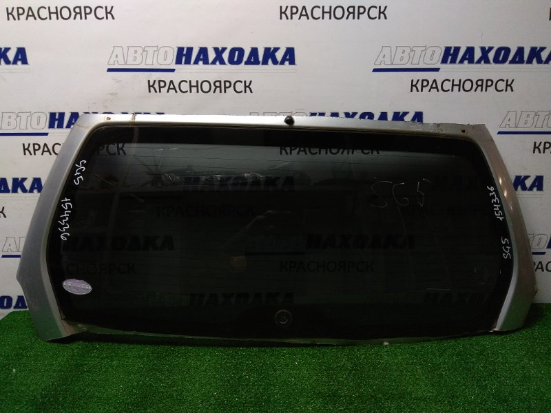Стекло заднее Subaru Forester SG5 2002 заднее выпилено с 5-й двери, оригинал, тонировка,