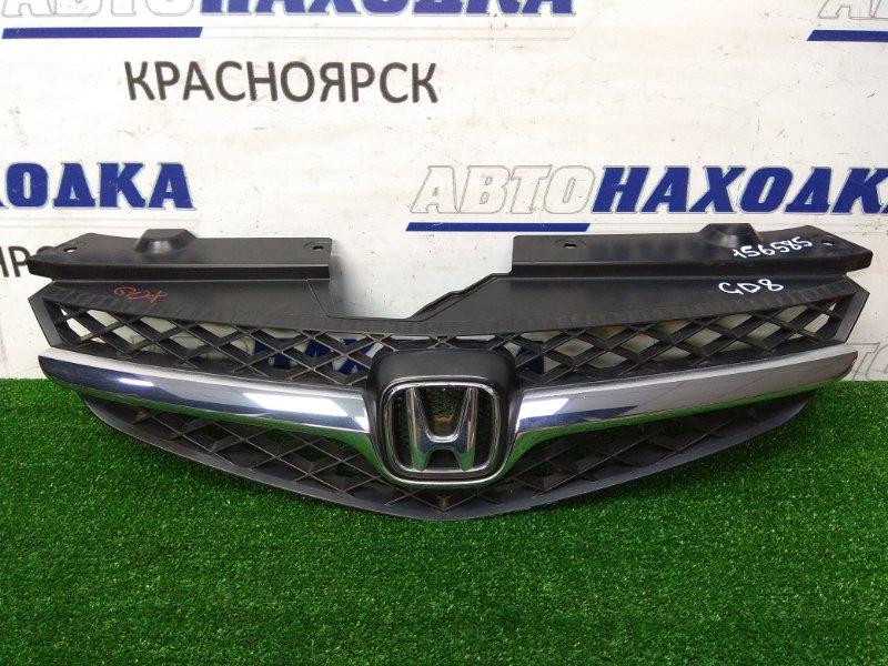 """Решетка радиатора Honda Fit Aria GD8 L15A 2005 2 мод., хром полоска, состояние """"4++"""""""