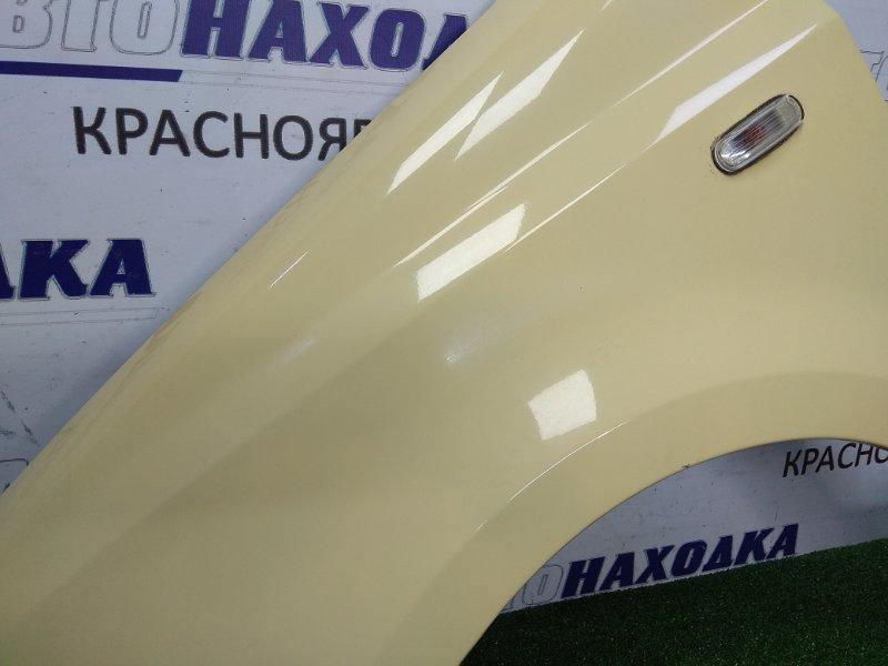 Крыло Fiat Panda 2003 переднее левое FL, желтый, с повторителем, ХТС