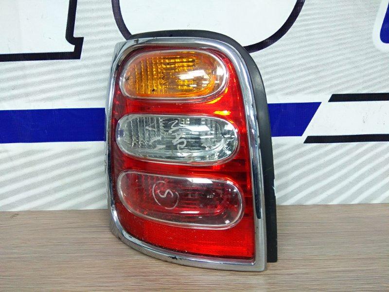 Фонарь задний Nissan March K11 1997 задний левый 4886 L хром наклад.