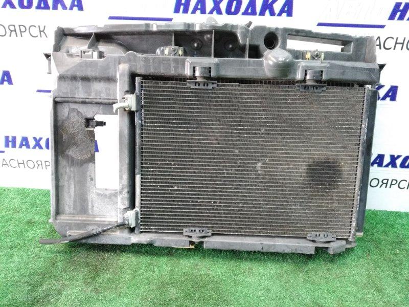 Рамка радиатора Citroen C3 F NFU 2002 передняя пластиковая, в сборе: радиатор ДВС с диффузором,