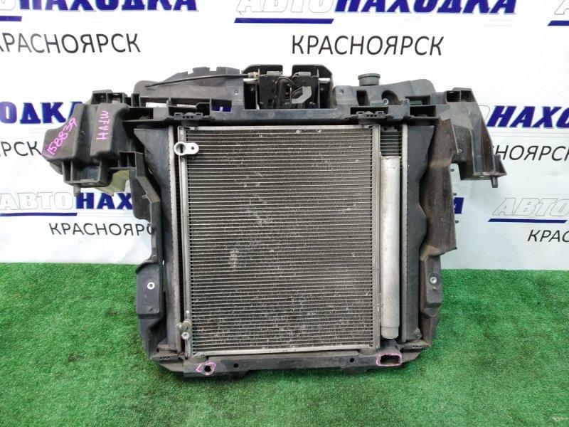 Рамка радиатора Mitsubishi I HA1W 3B20 2006 передняя пластиковая, в сборе: радиатор ДВС с