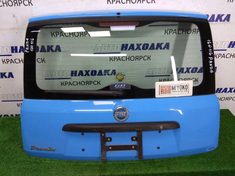 Дверь задняя Fiat Panda 169 2003 задняя В сборе, без петель, голубой, незначительный дефект,