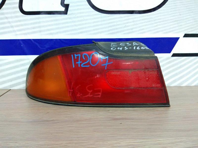 Фонарь задний Mitsubishi Eterna E53A 6A11 задний левый 043-1605 L полировать/K63 свой, на галант не