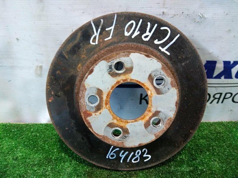 Диск тормозной Toyota Estima Emina TCR10G 2TZ-FE 1992 передний передний, диаметр 279 мм, пробег 21 т.км.
