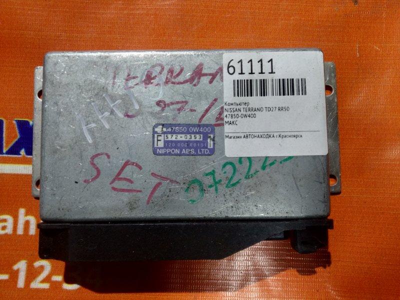 Компьютер Nissan Terrano RR50 TD27 47850-0W400 ABS, МАКС