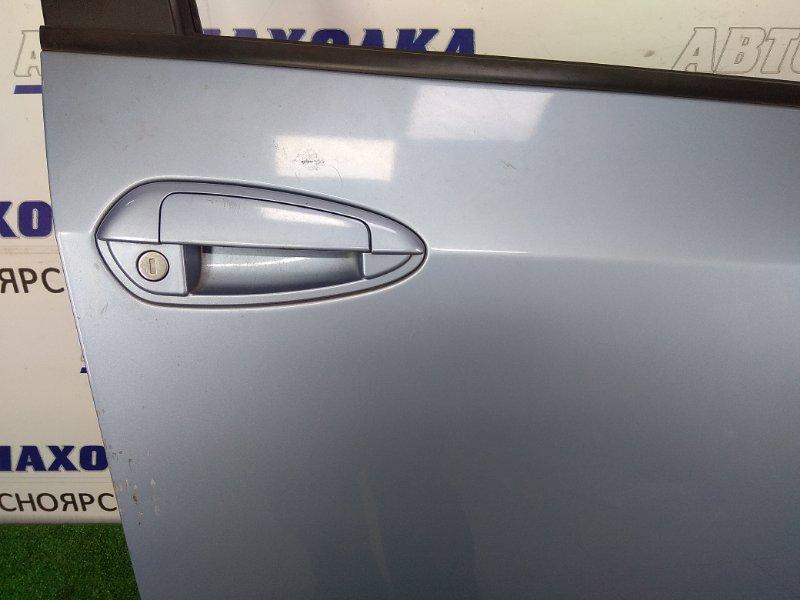 Дверь Fiat Punto 199 350 A1.000 2005 передняя правая передняя правая, голубой, пятидверка, без