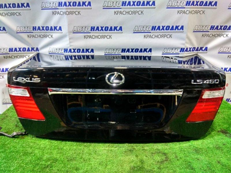 Крышка багажника Lexus Ls460 USF40 1UR-FSE 2006 задняя с камерой заднего хода, есть тычка *