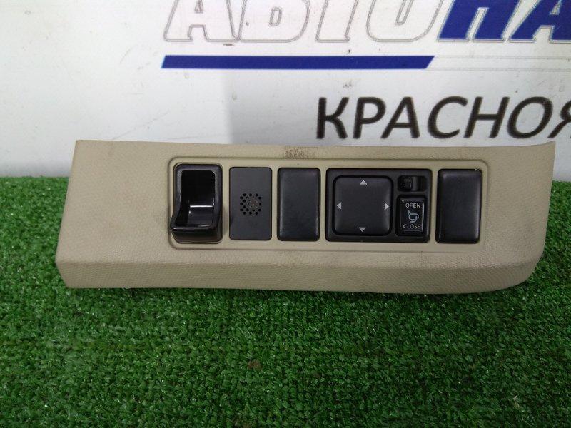 Блок управления зеркалами Nissan March BK12 CR14DE 2002 68485 AX180 с планкой ( серый, код салона J), с