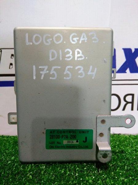 Компьютер Honda Logo GA3 D13B 1996 28100-P7A-Z00 Блок управления АКПП 28100-P7A-Z00