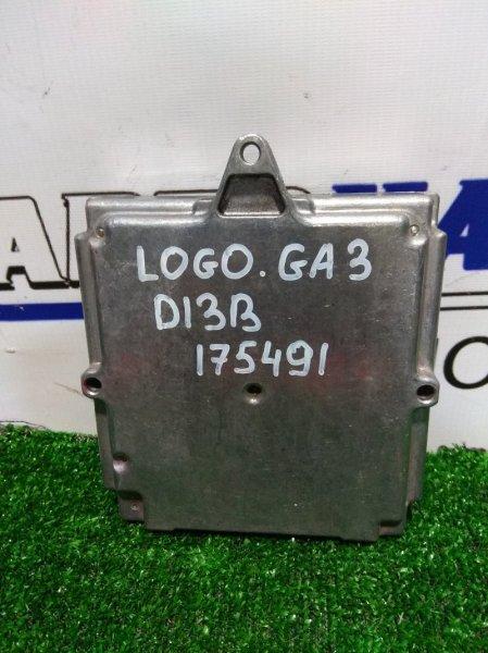 Компьютер Honda Logo GA3 D13B 1996 37820-PEC-J01 Блок управления ДВС 37820-PEC-J01